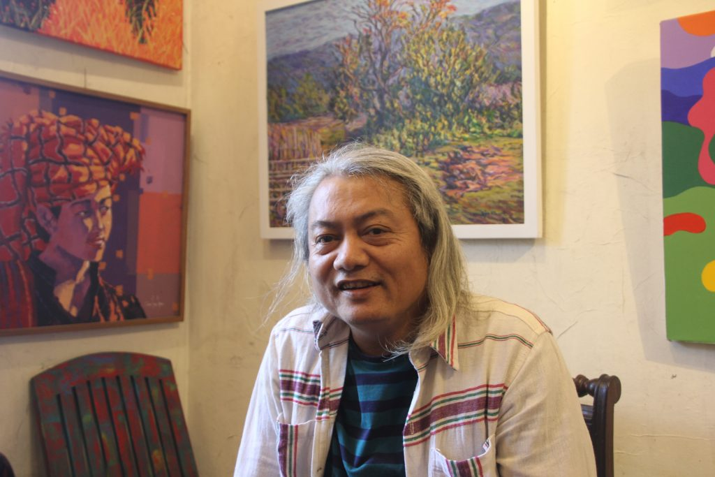 A painter, editor, historian and musician whose creativity paves the way –  Pansodan Gallery's founder, Aung Soe Min
