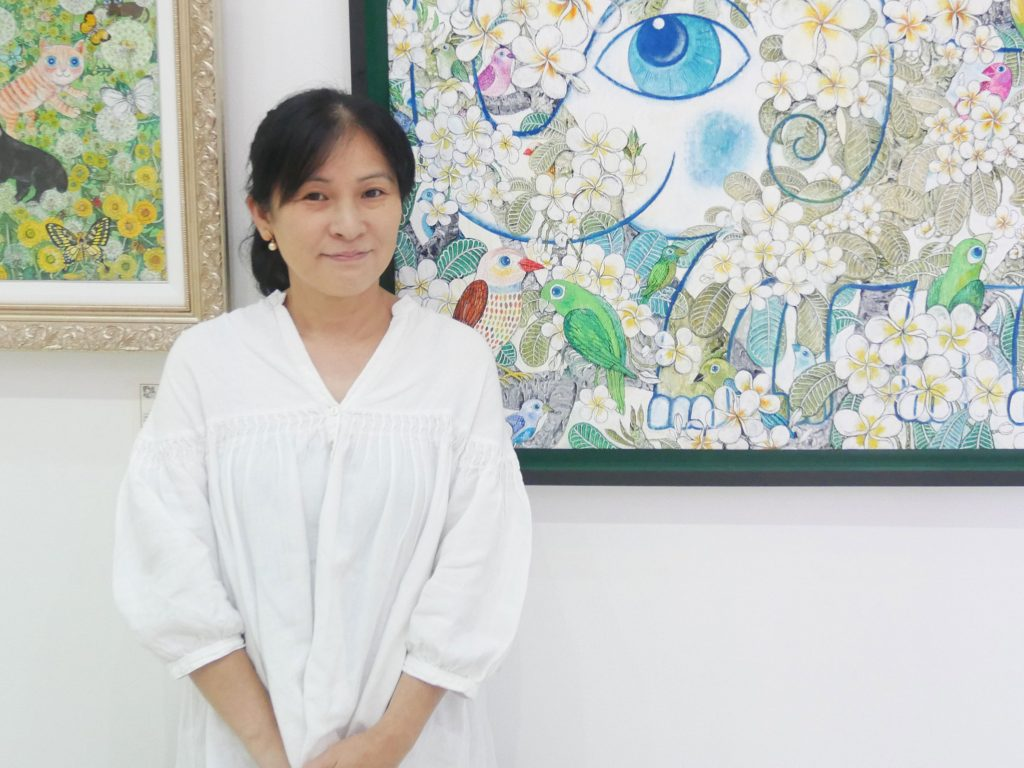 Kyoko Abe, an Artist Based in Thailand who Engages to Produce Works and Supports and Nurtures Artists